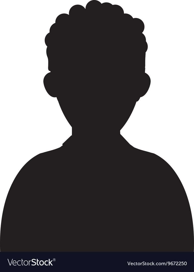 Man portrait silhouette icon vector