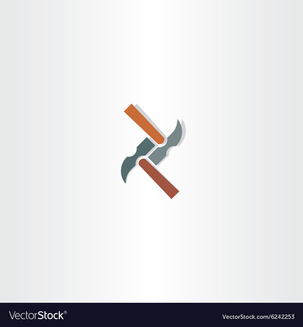 Hammer abstract icon vector