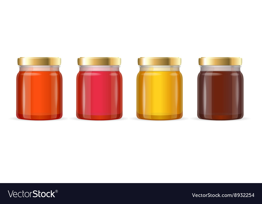 Jar glass with jam vector