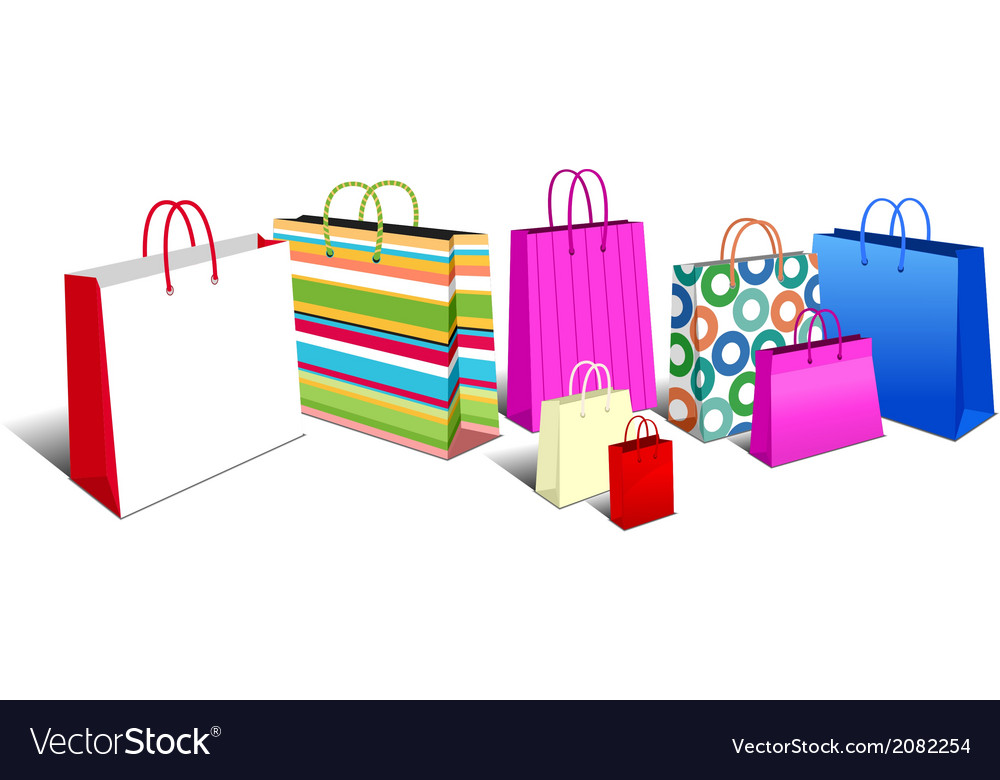 Shopping bags modern vector