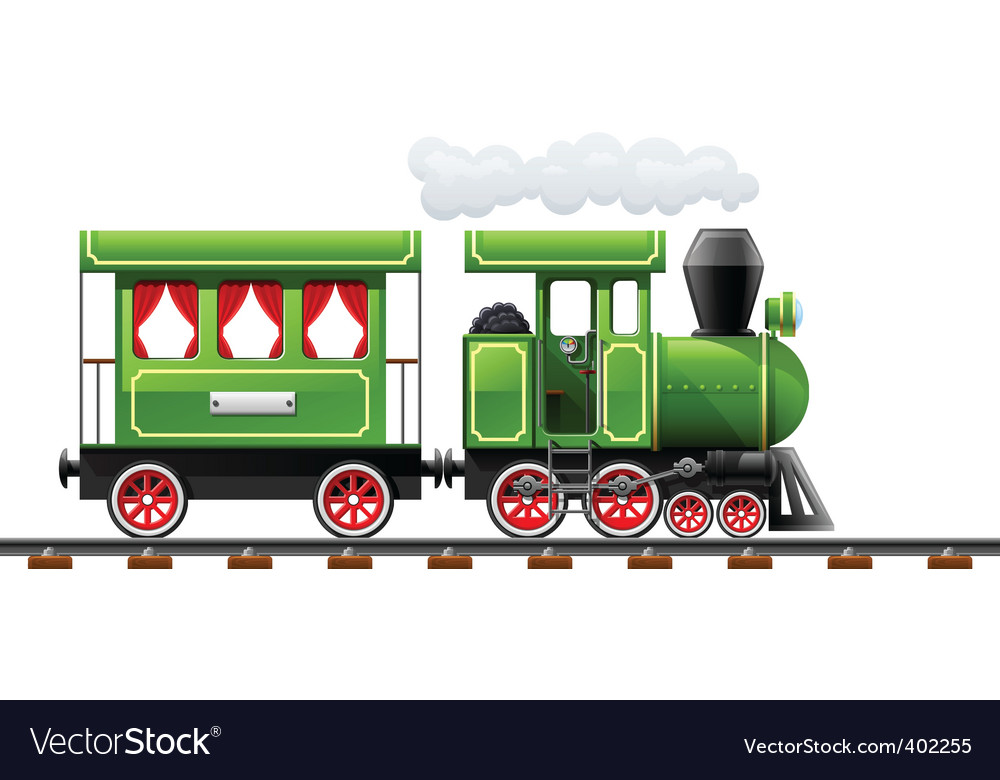 Retro locomotive vector