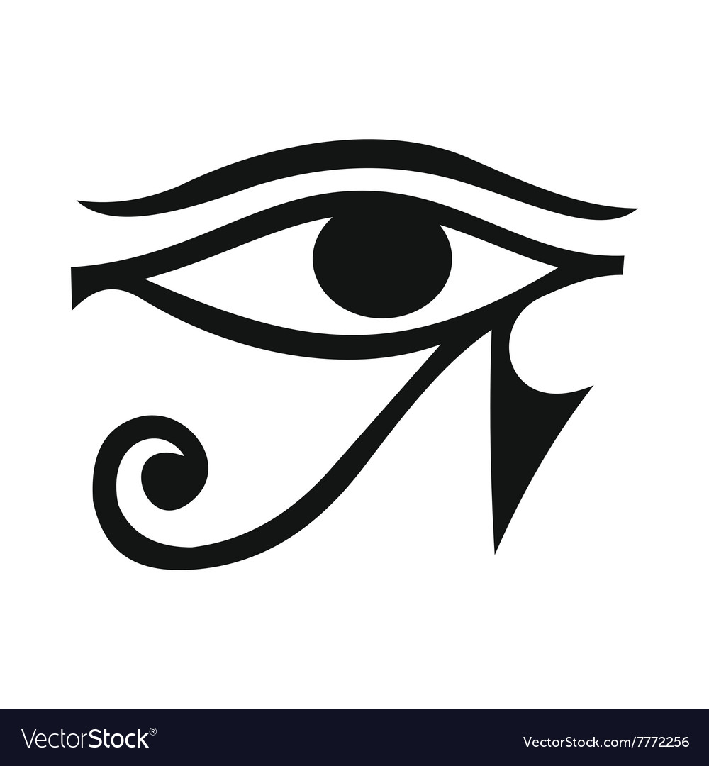 Eye of horus icon simple style vector