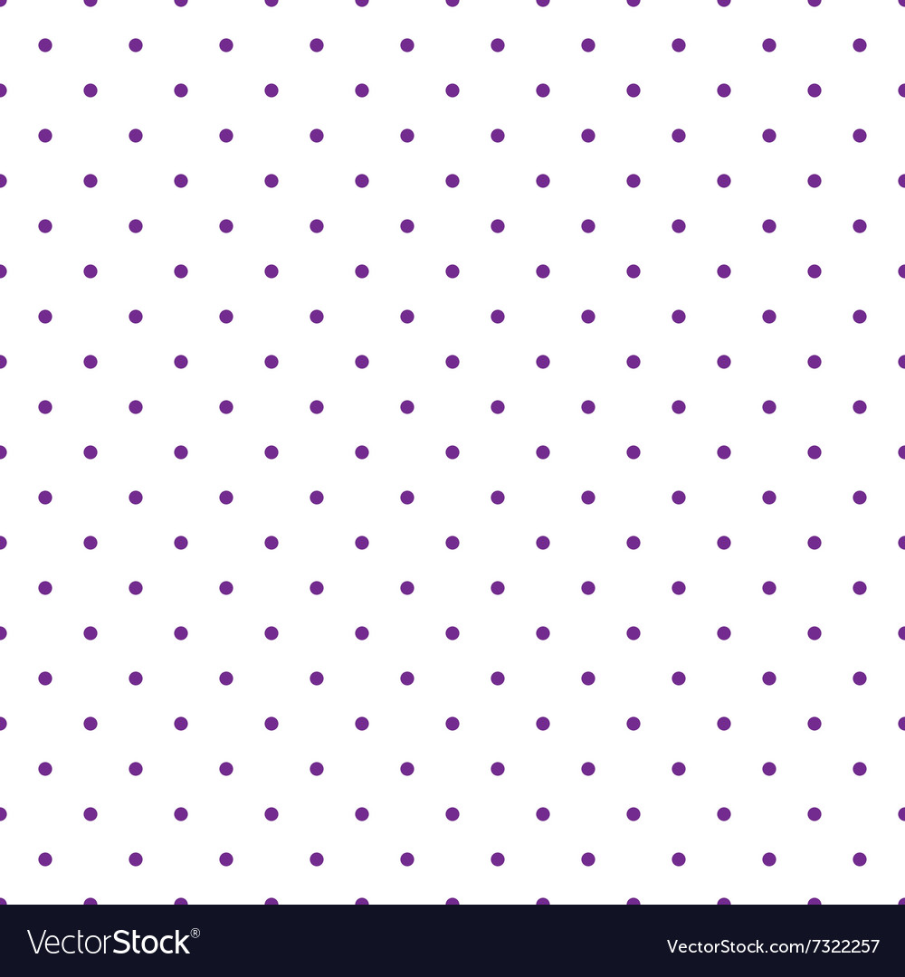 Tile pattern with violet polka dots on white vector