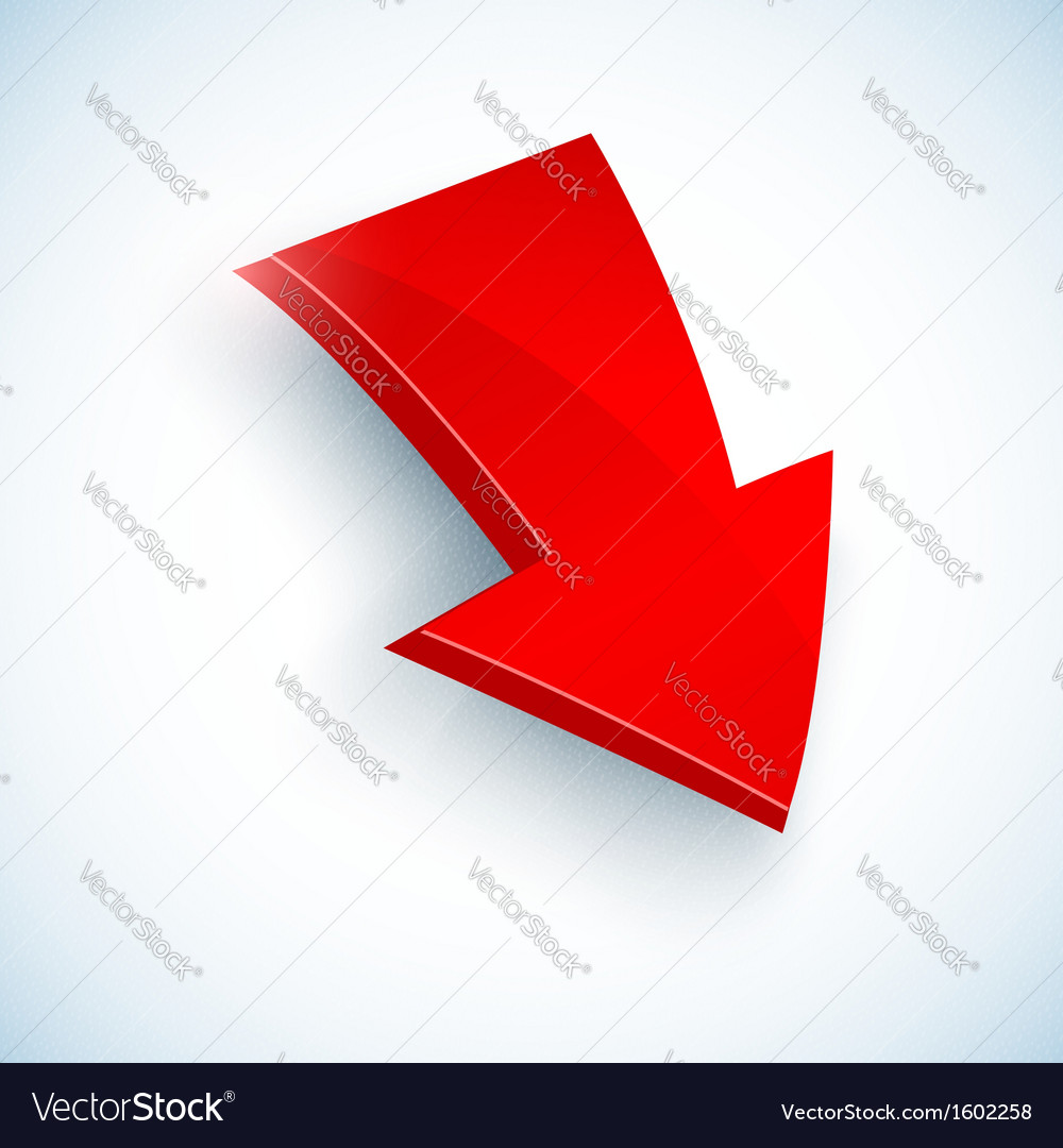 Big red arrow icon vector