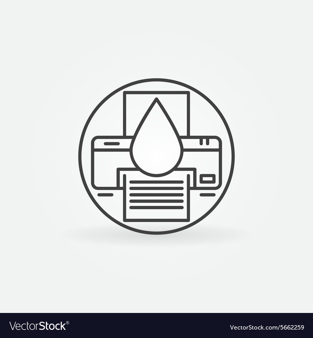 Cartridge refill logo vector
