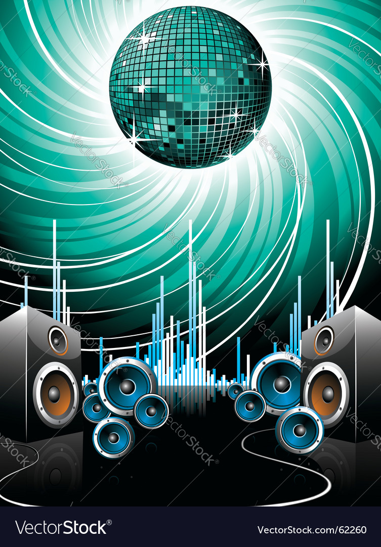 For a musical theme vector