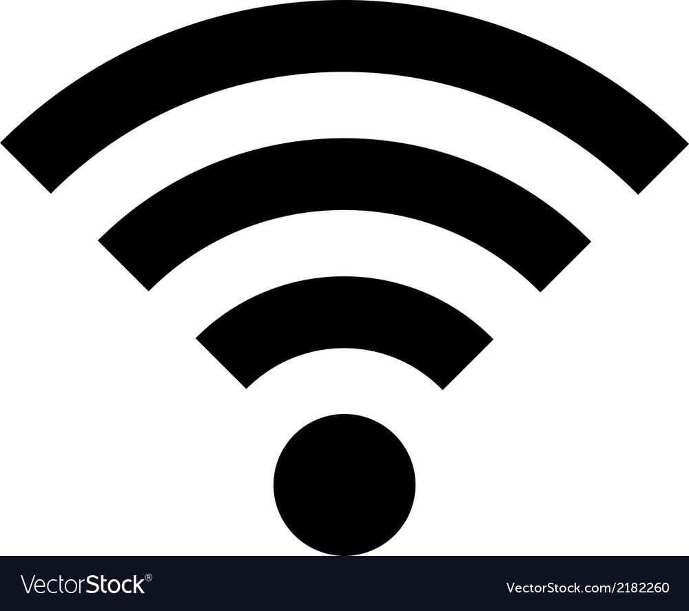 Wi fi icon vector