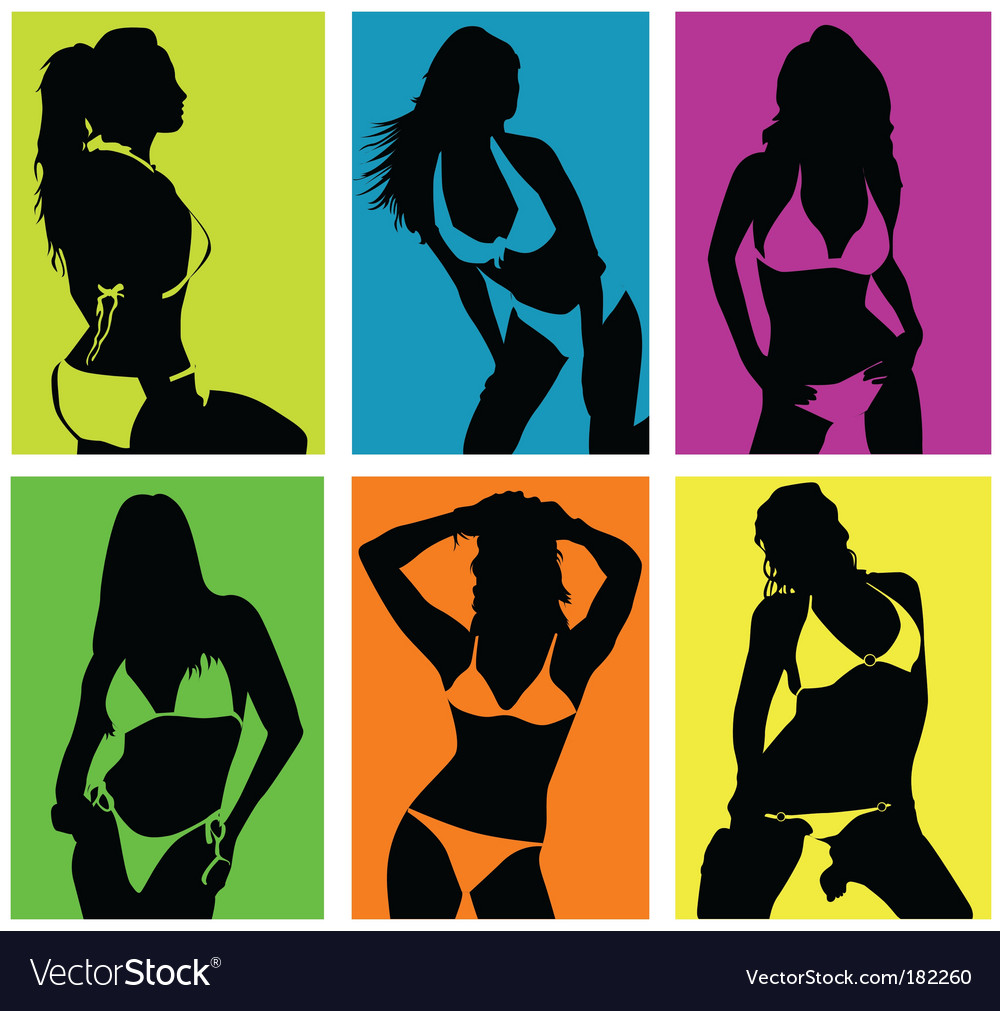 Women in bikini vector