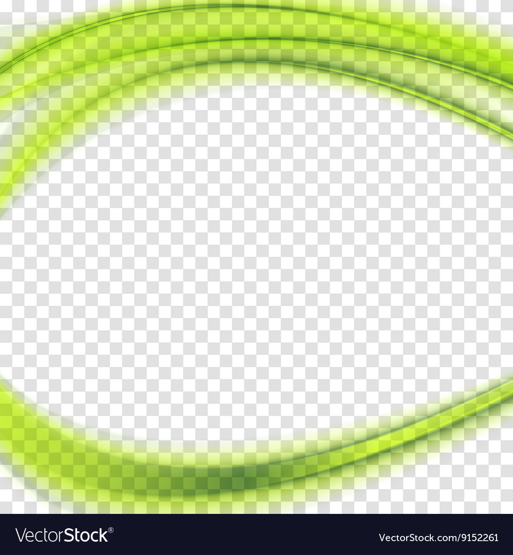 Abstract green transparent wavy background vector