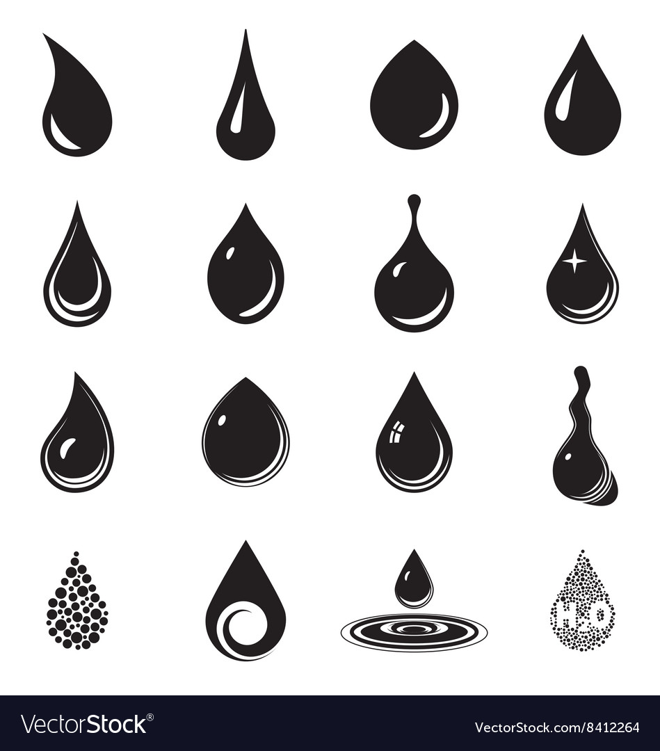 Droplet icons vector