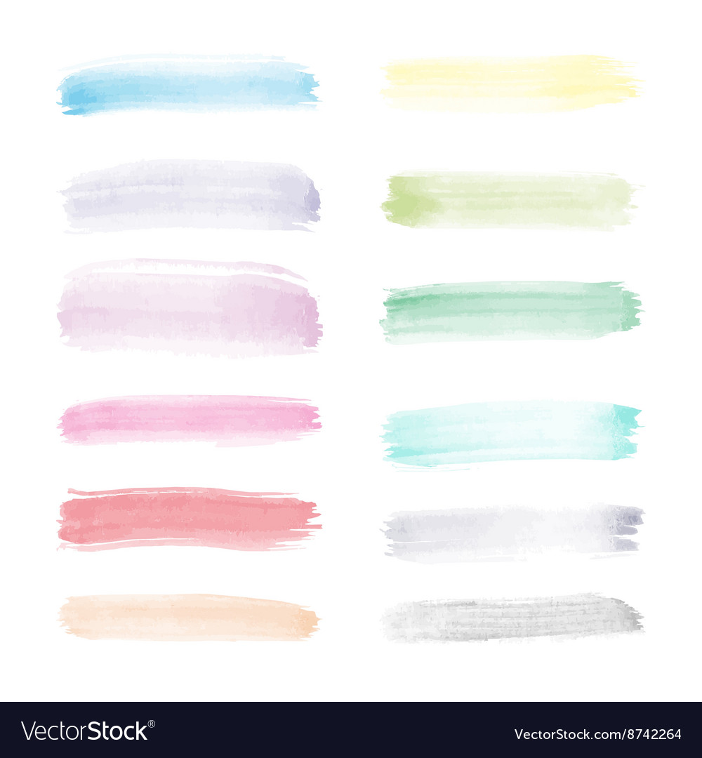 Very bright watercolor vector
