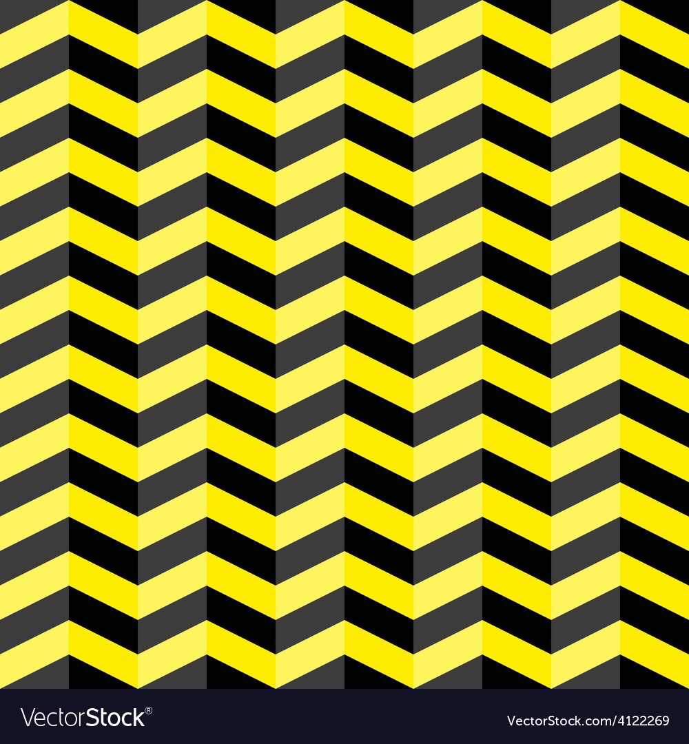 Black and yellow chevron seamless pattern vector