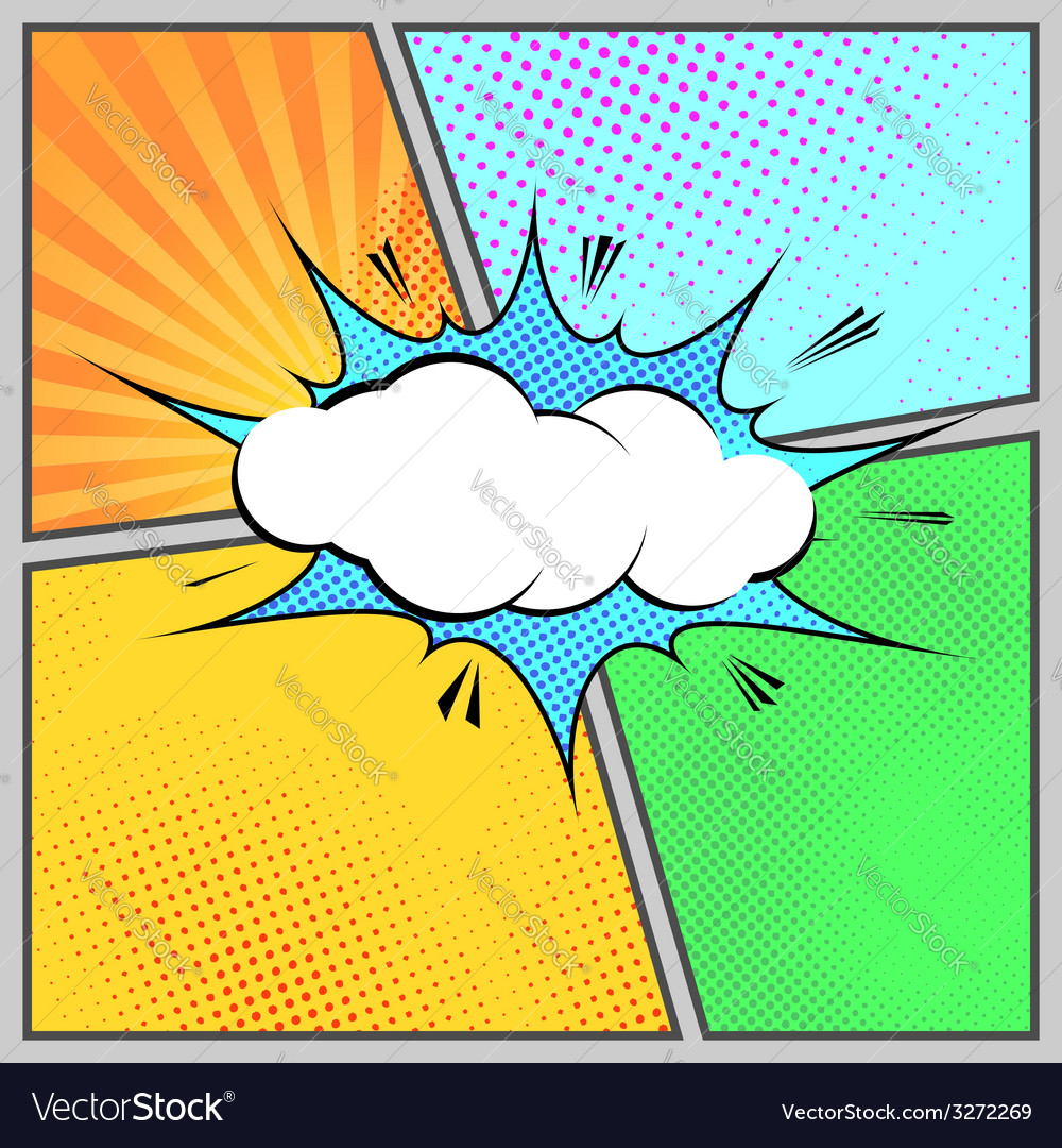 Comic popart humorous page style template vector