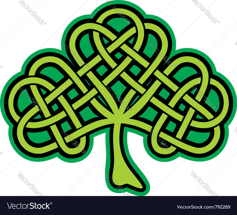 Shamrock celtic tattoo vector