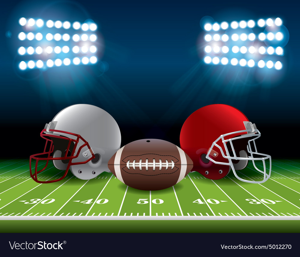 American football theme vector