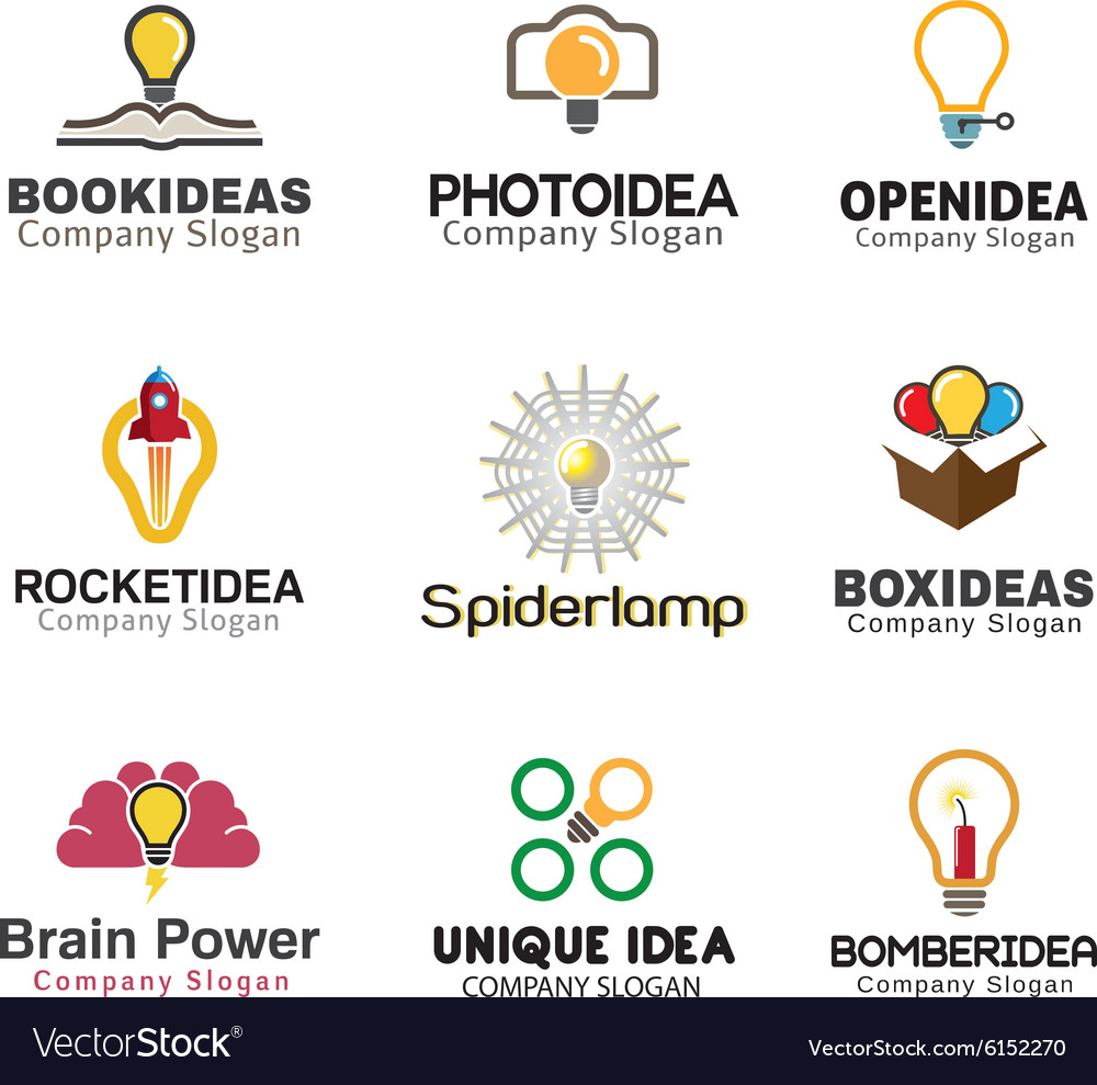 Ideas lamp symbol design vector