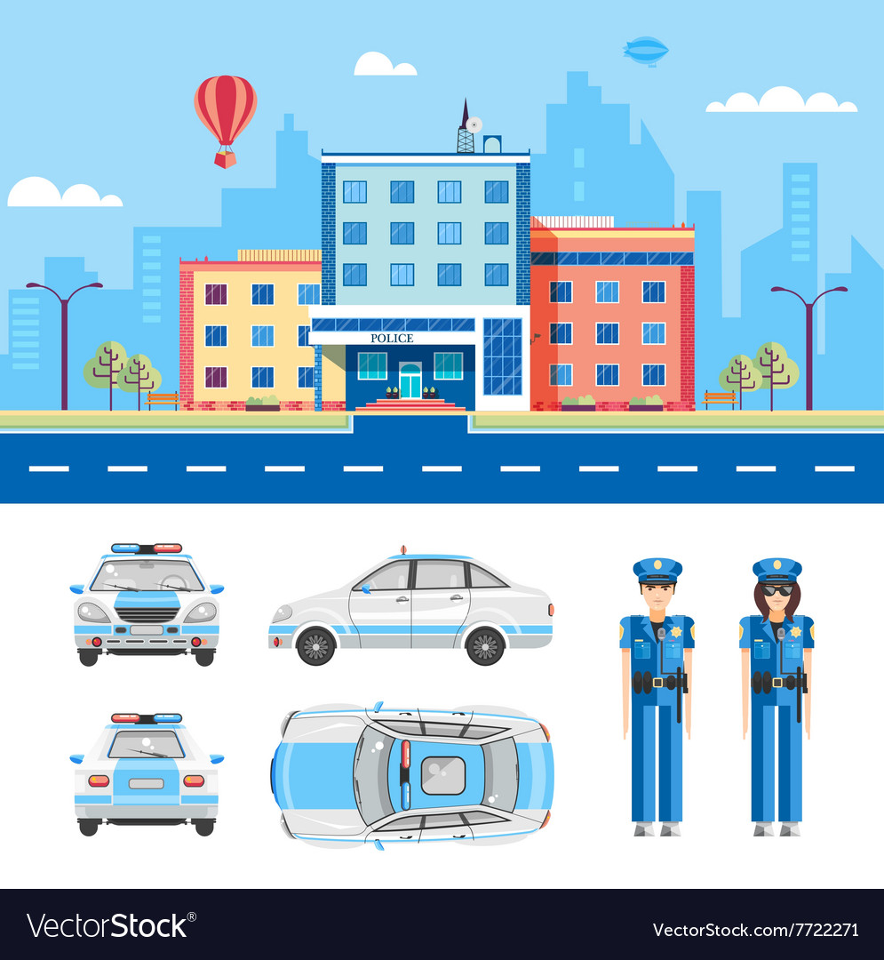 Police station 2 vector