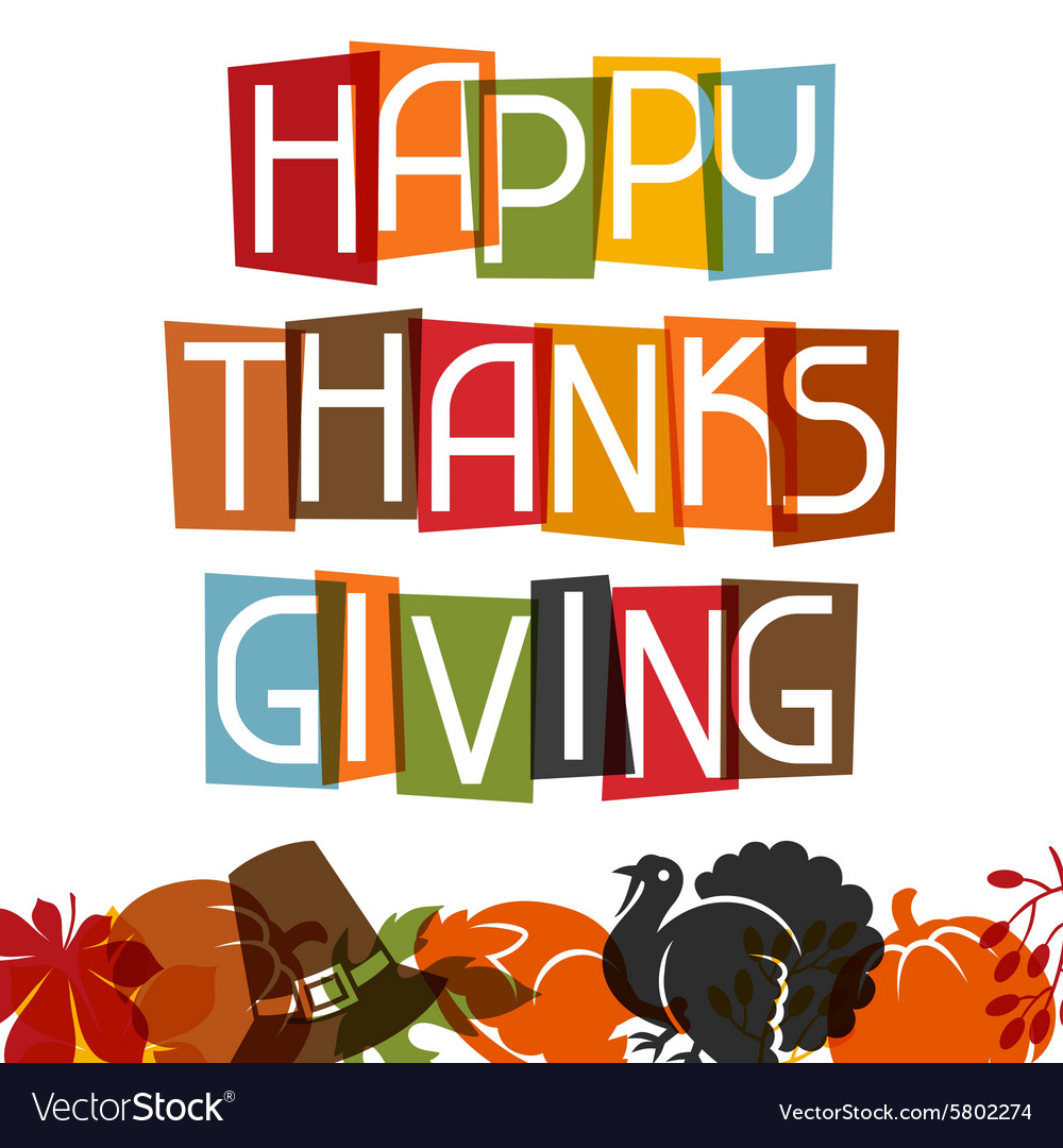 Happy thanksgiving day card design with holiday vector