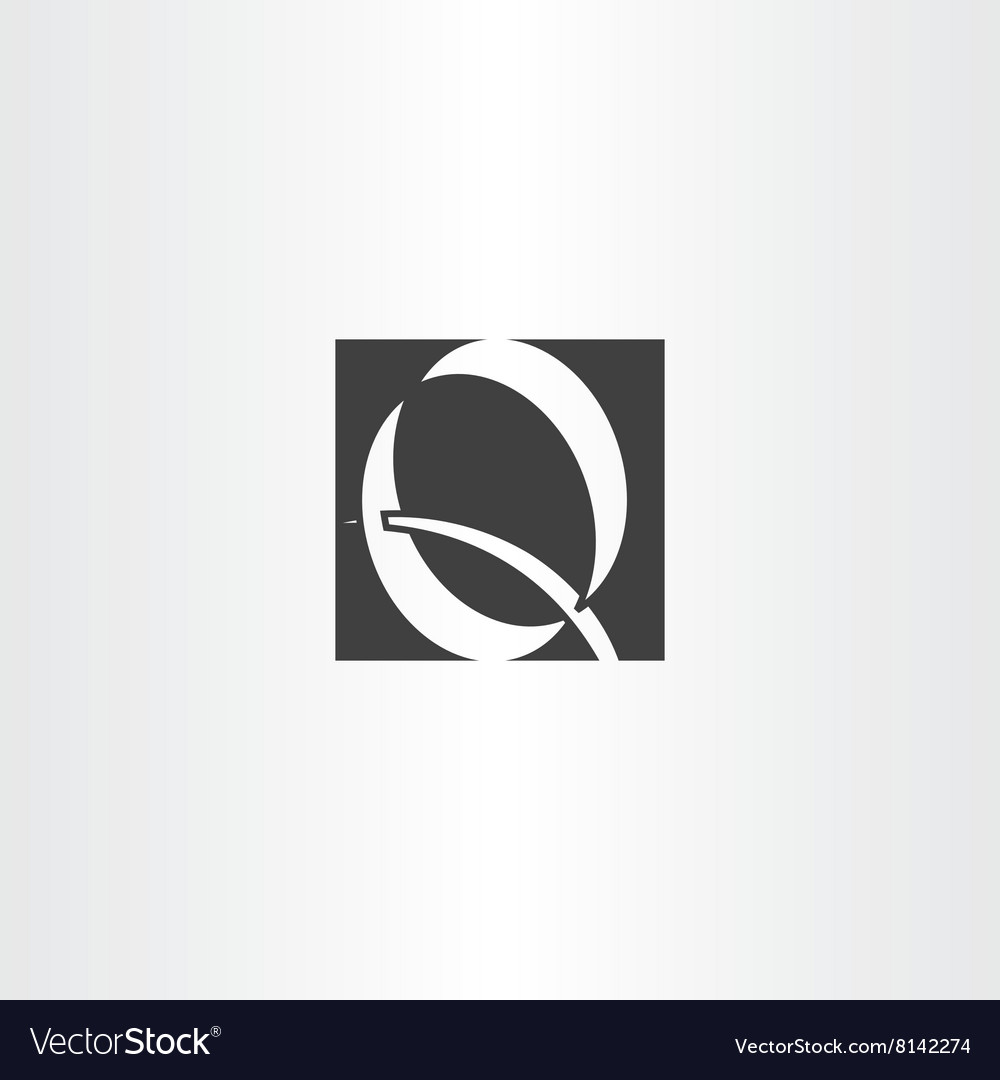 Logo logotype black q letter icon sign vector