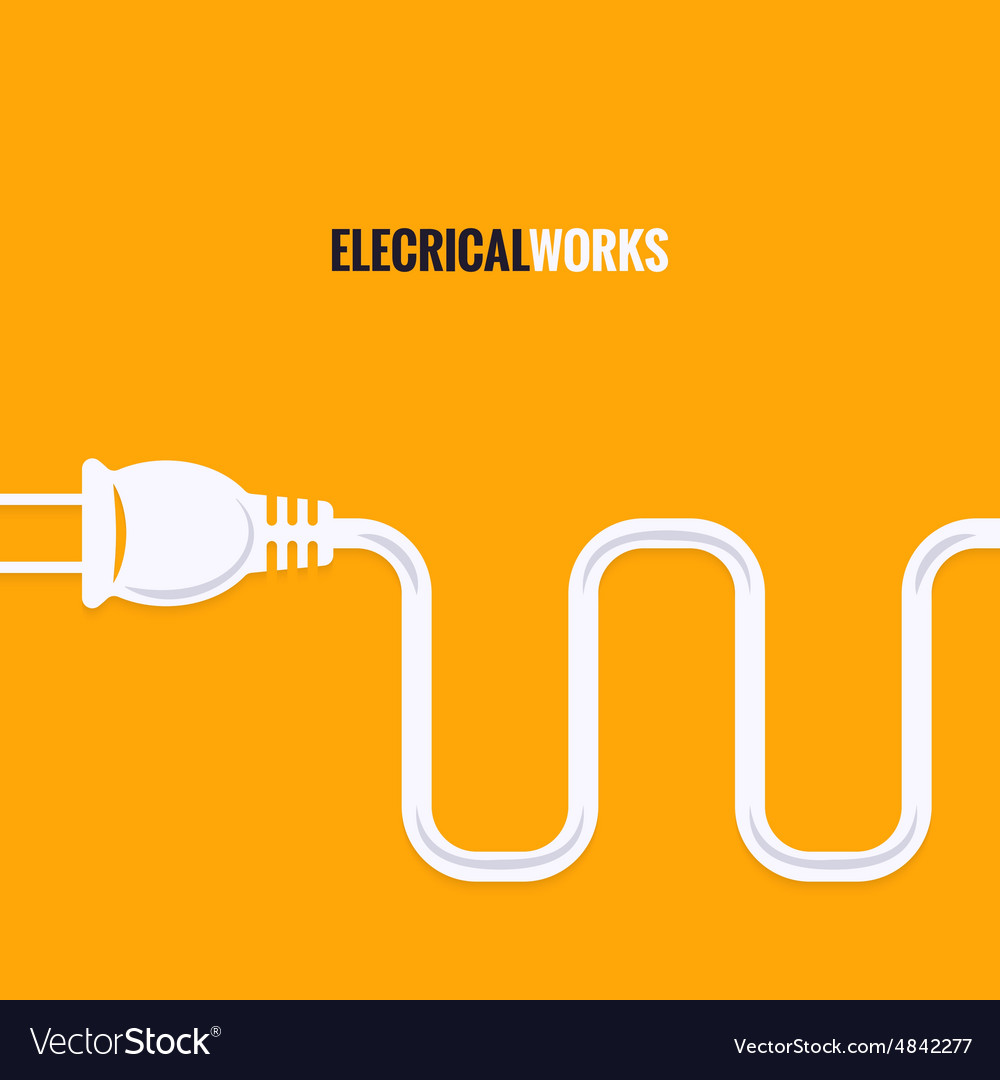 Electric plug wire design background vector
