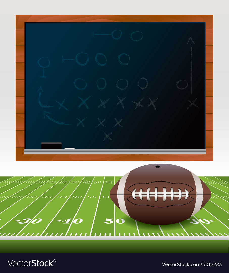 American football chalkboard vector