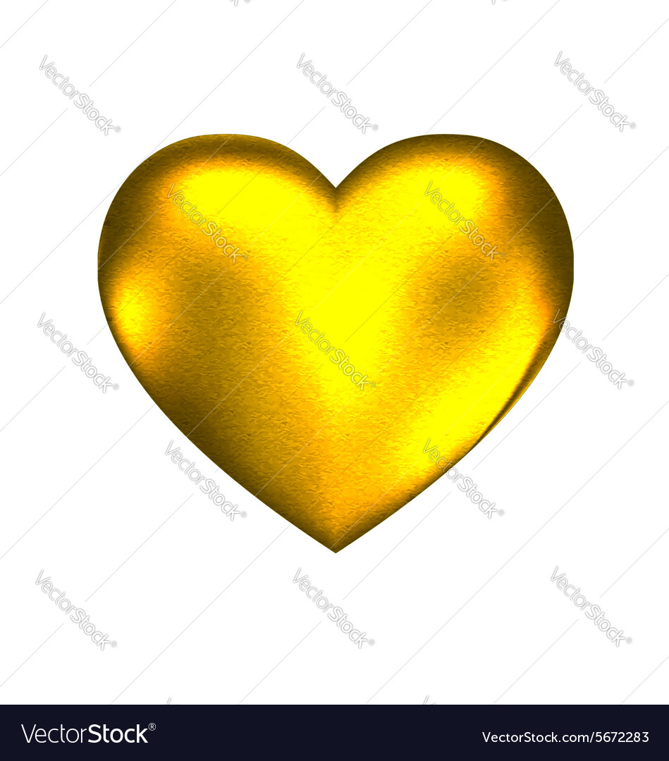 Golden hard heart vector