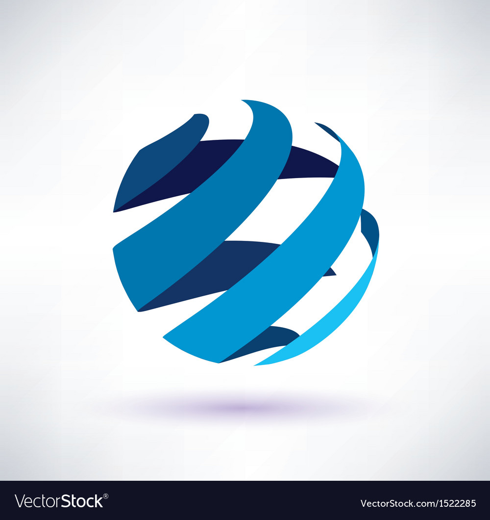 Abstract globe symbol vector