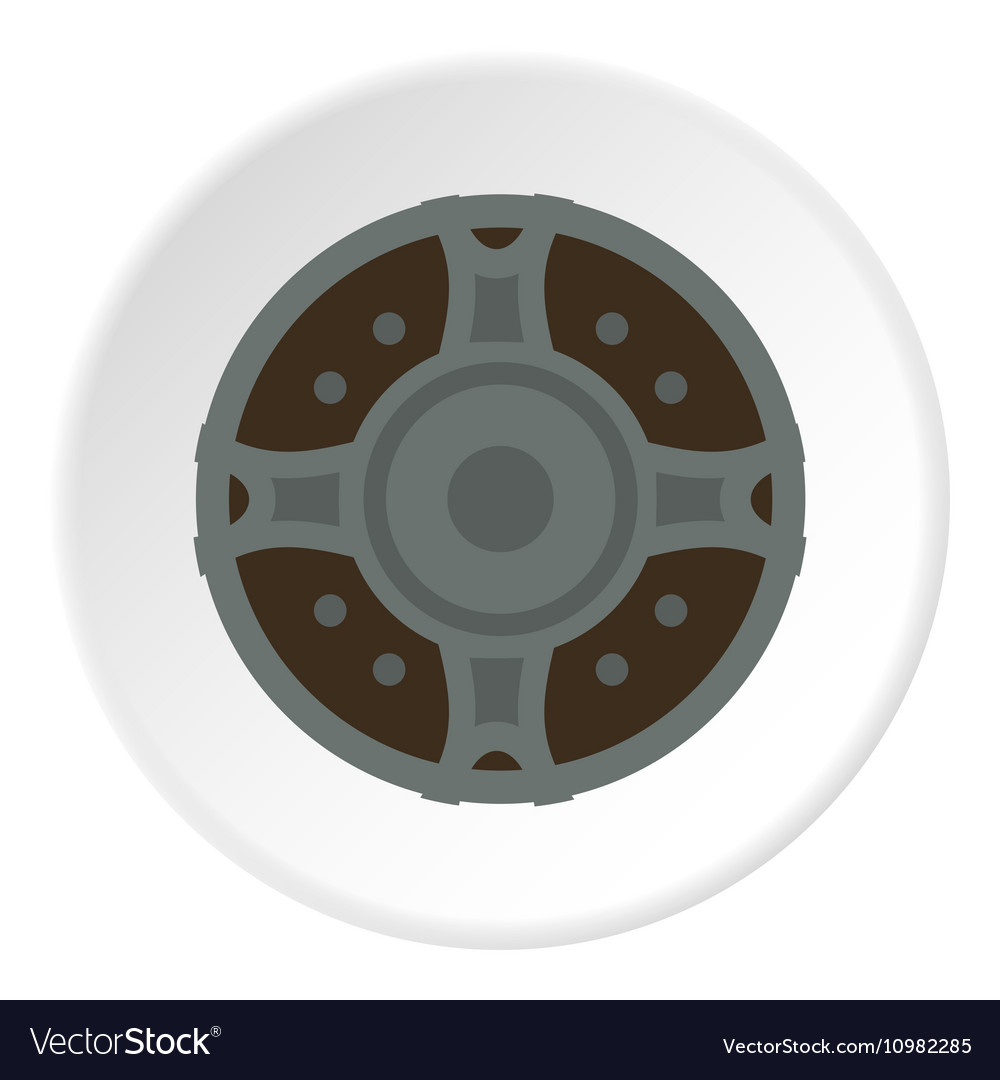 Viking shield icon flat style vector
