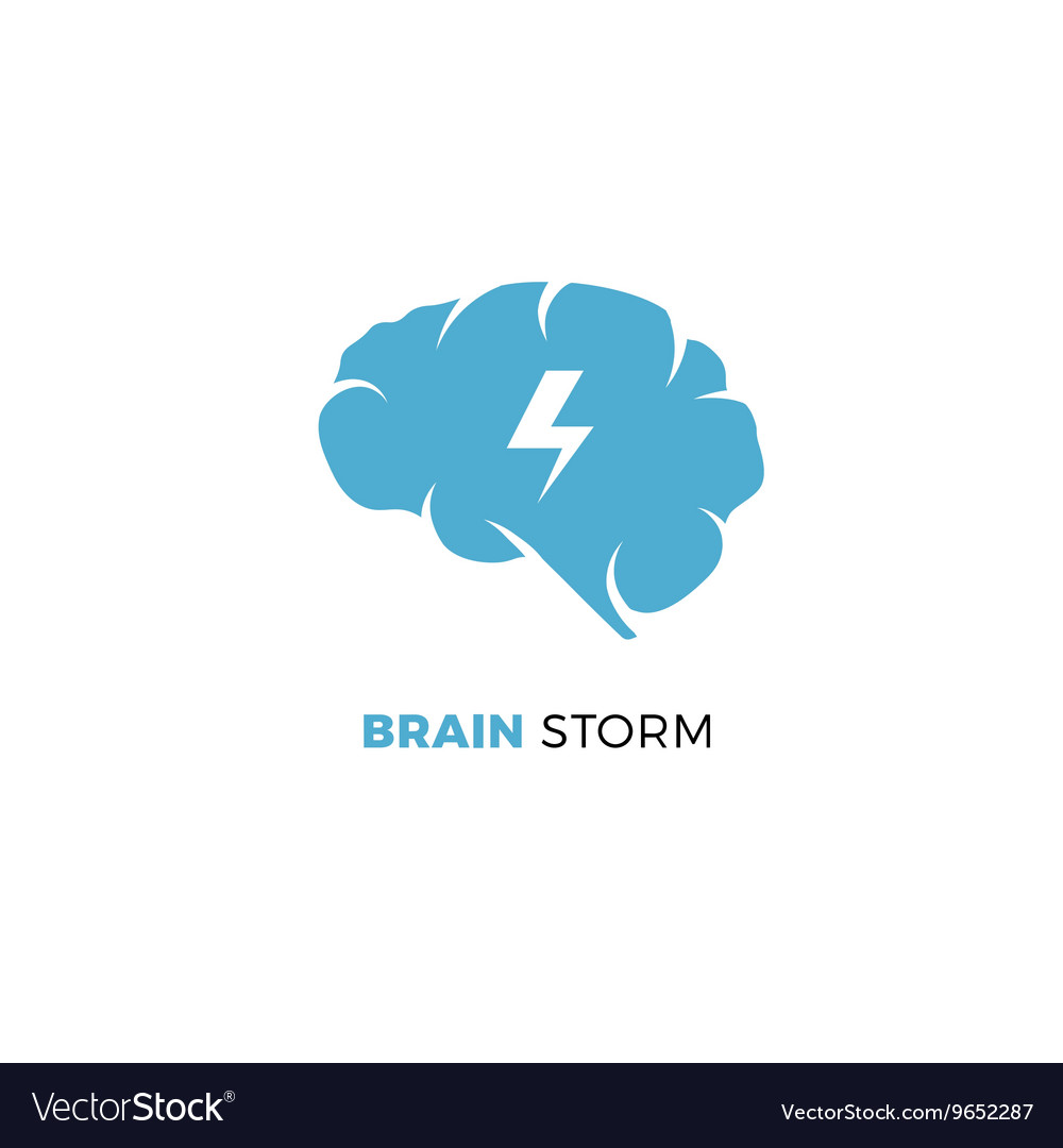 Brainstorming creative idea smart cloud vector