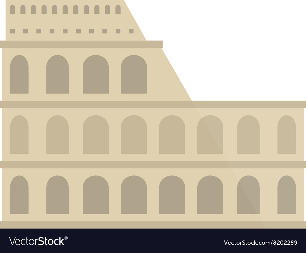 Amphitheater ruin an ancient architecture history vector