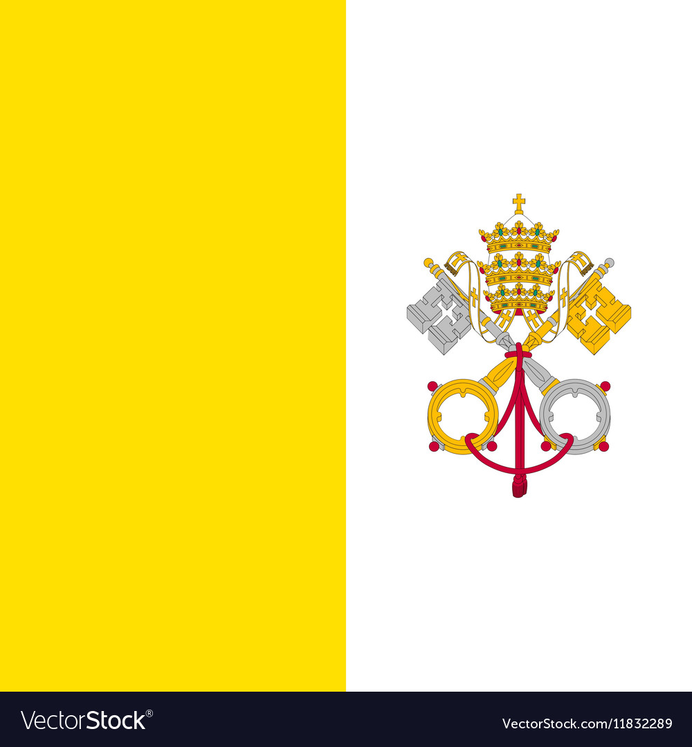 Flag of vatican city vector