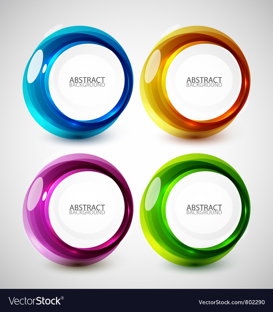 Abstract swirl set vector