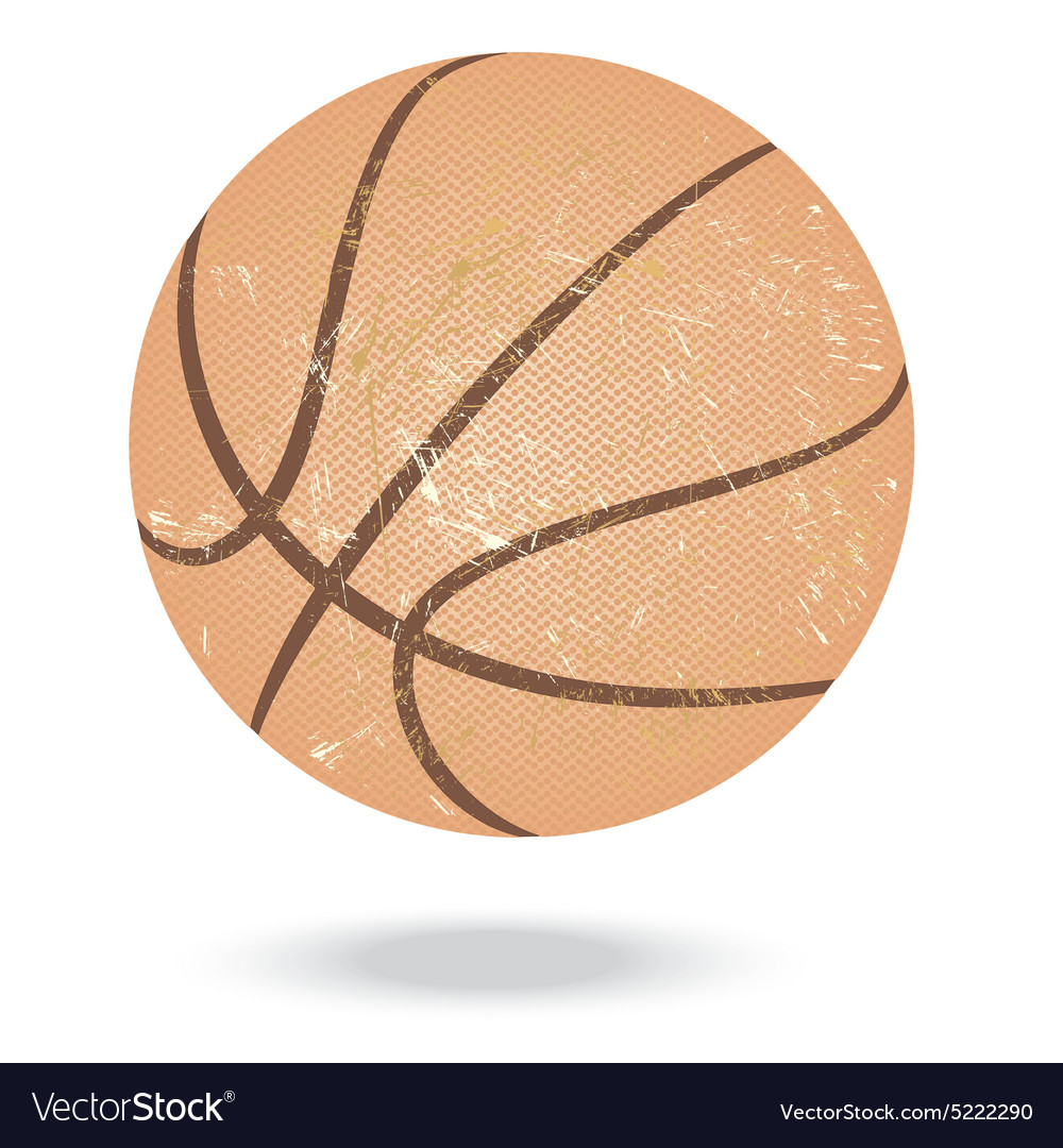Basketballvintage vector