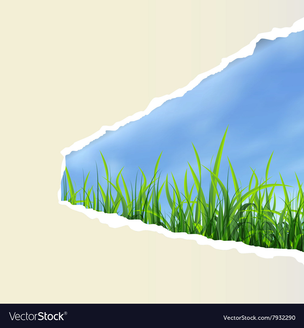 Hole with grass vector