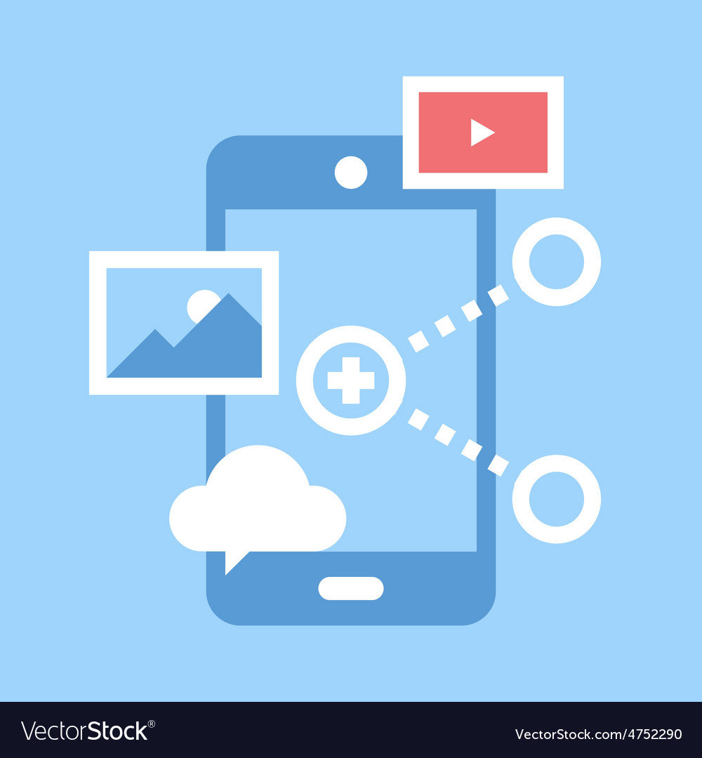 Mobile share vector