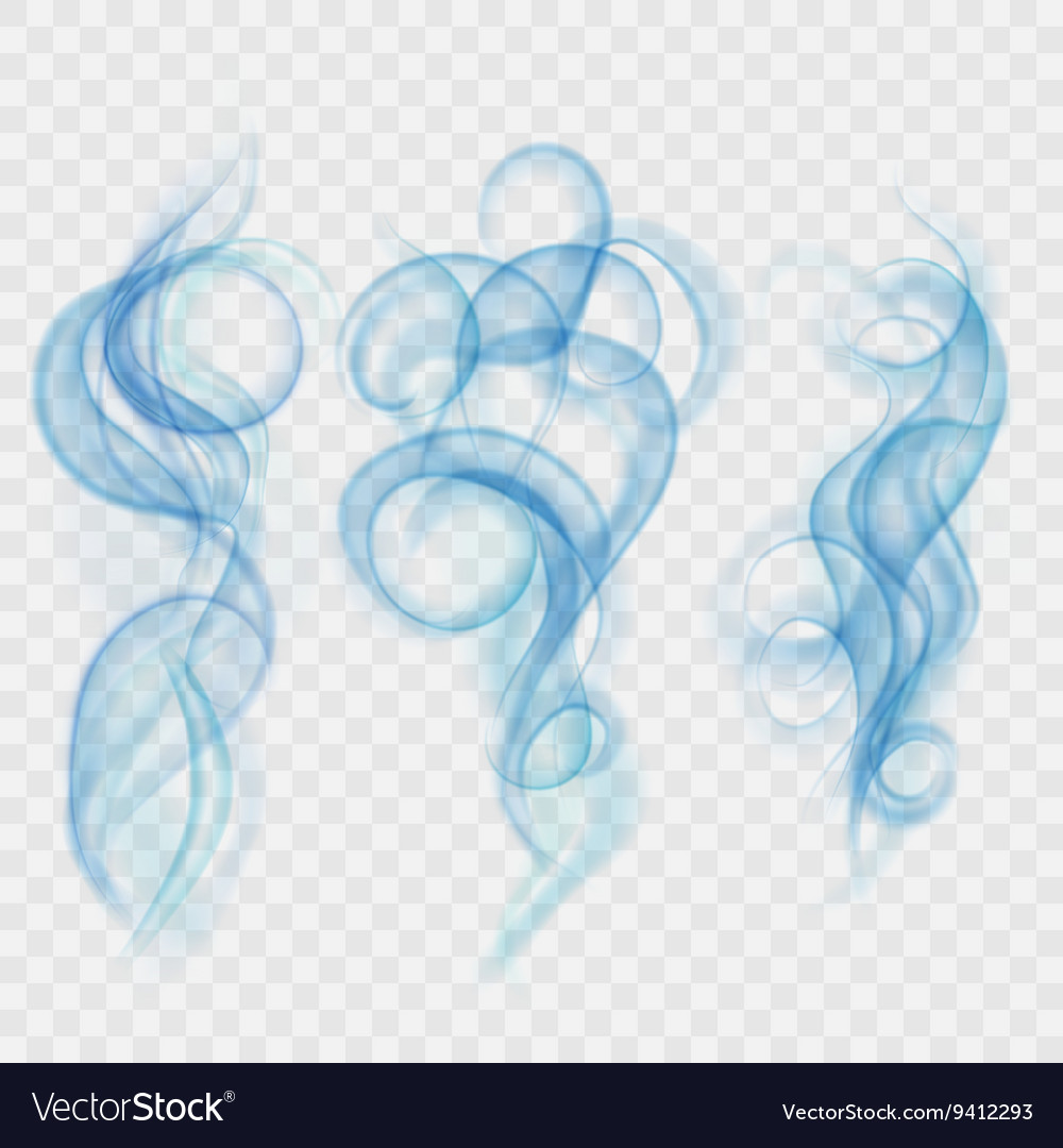 Translucent light blue smoke vector