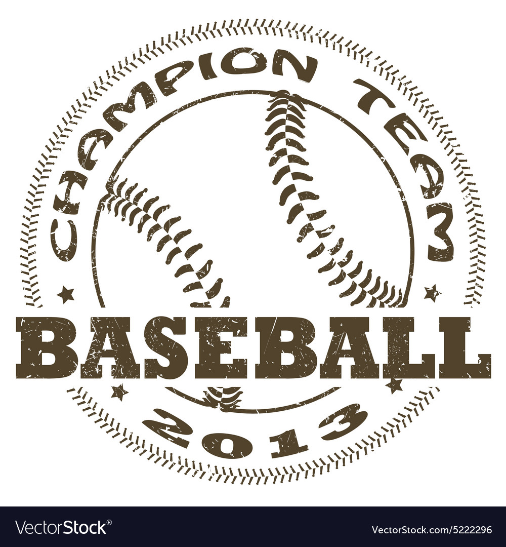 Baseball label vector