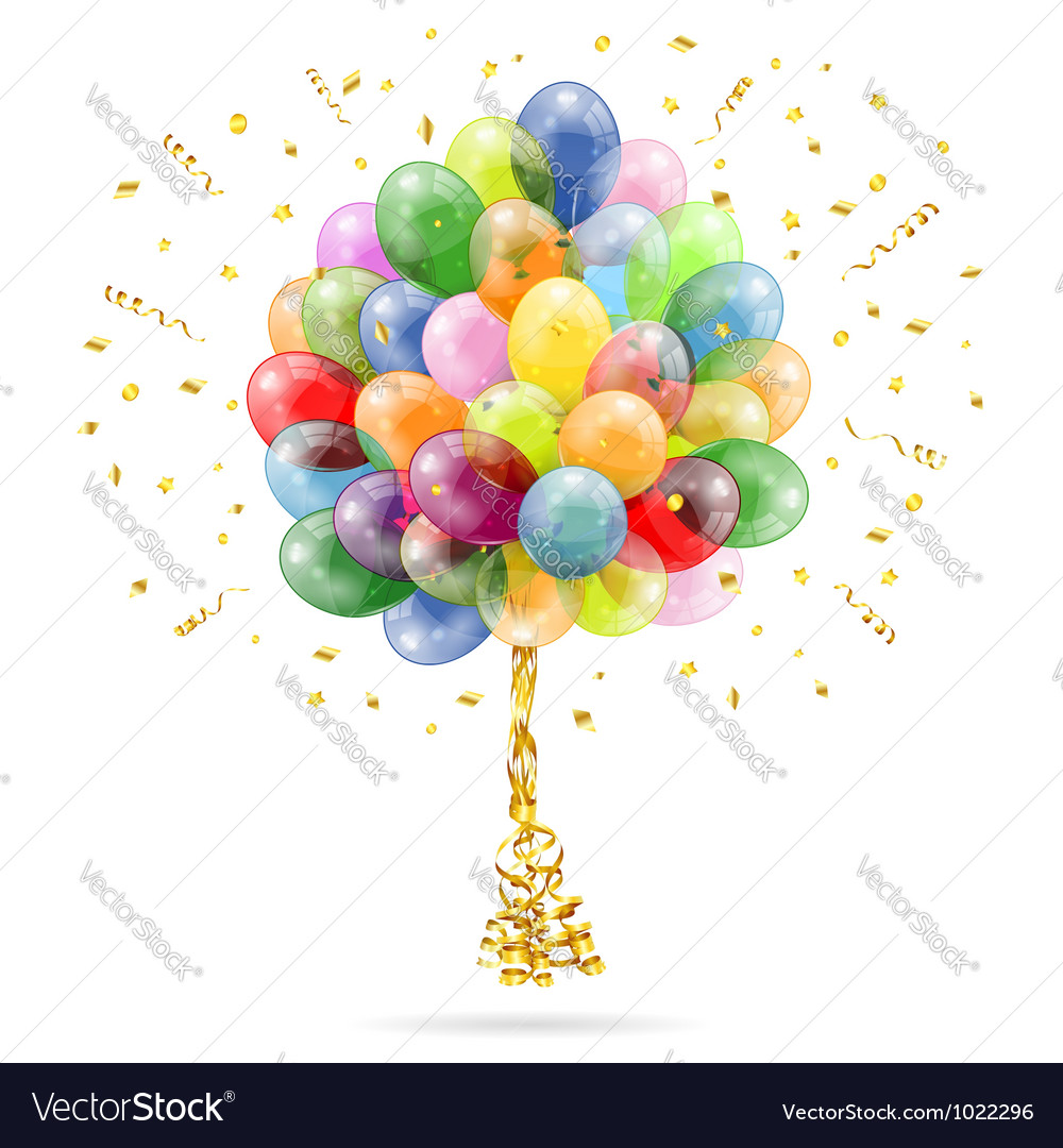 Birthday balloons vector