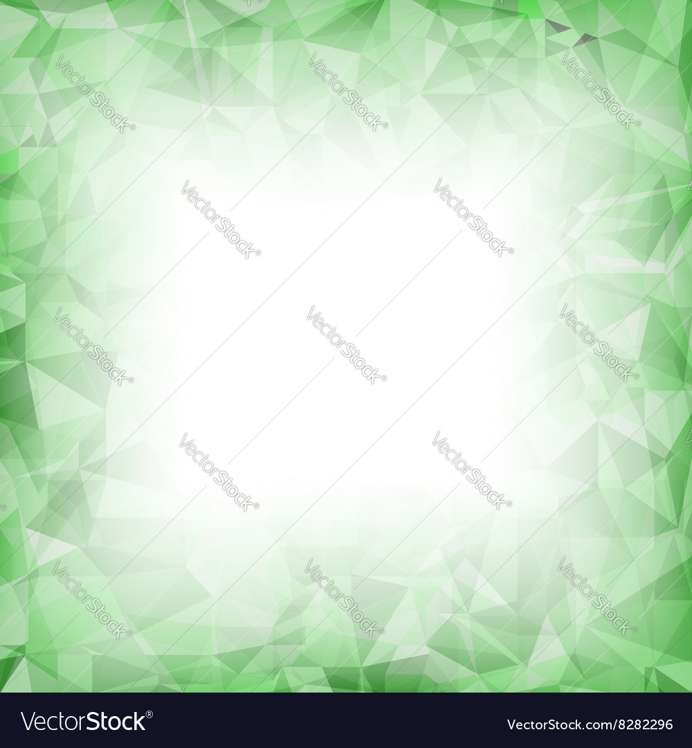 Green polygonal background vector