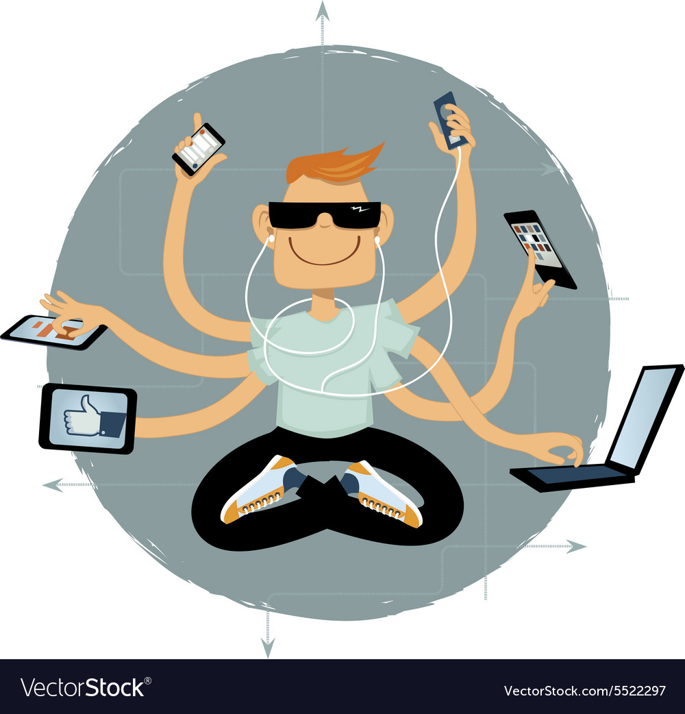 Internet superhero vector