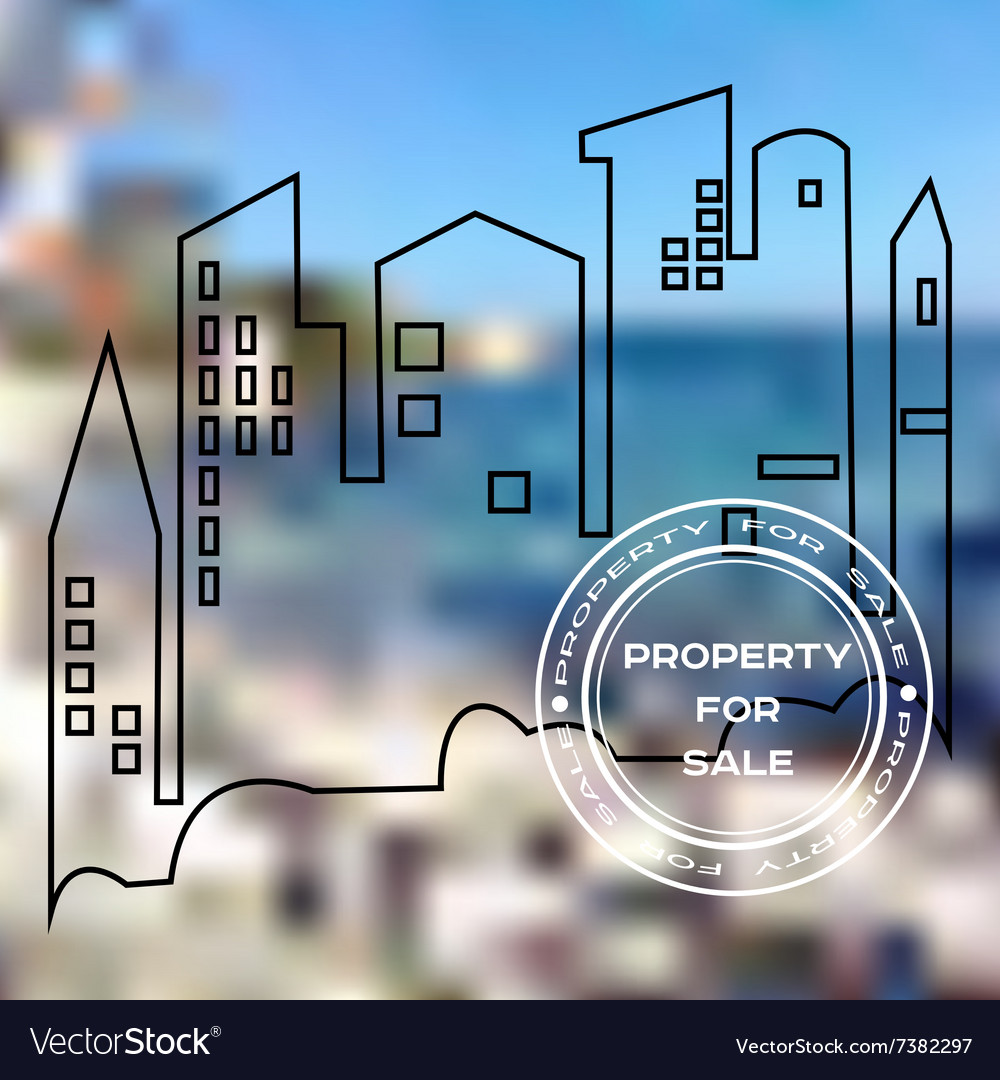 Poster for sale property vector