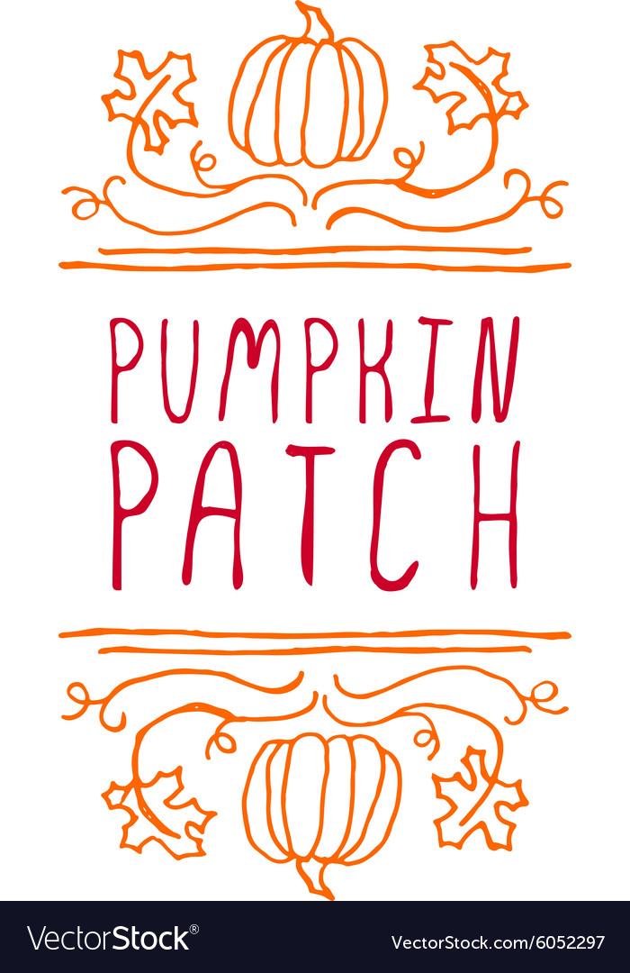 Pumpkin patch  typographic element vector