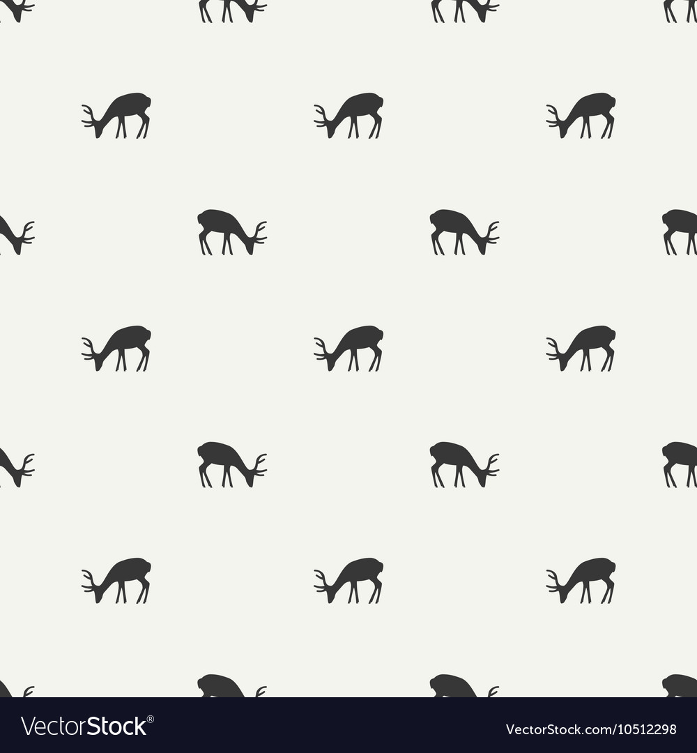 Tribal ethnic seamless pattern with deer reindeer vector