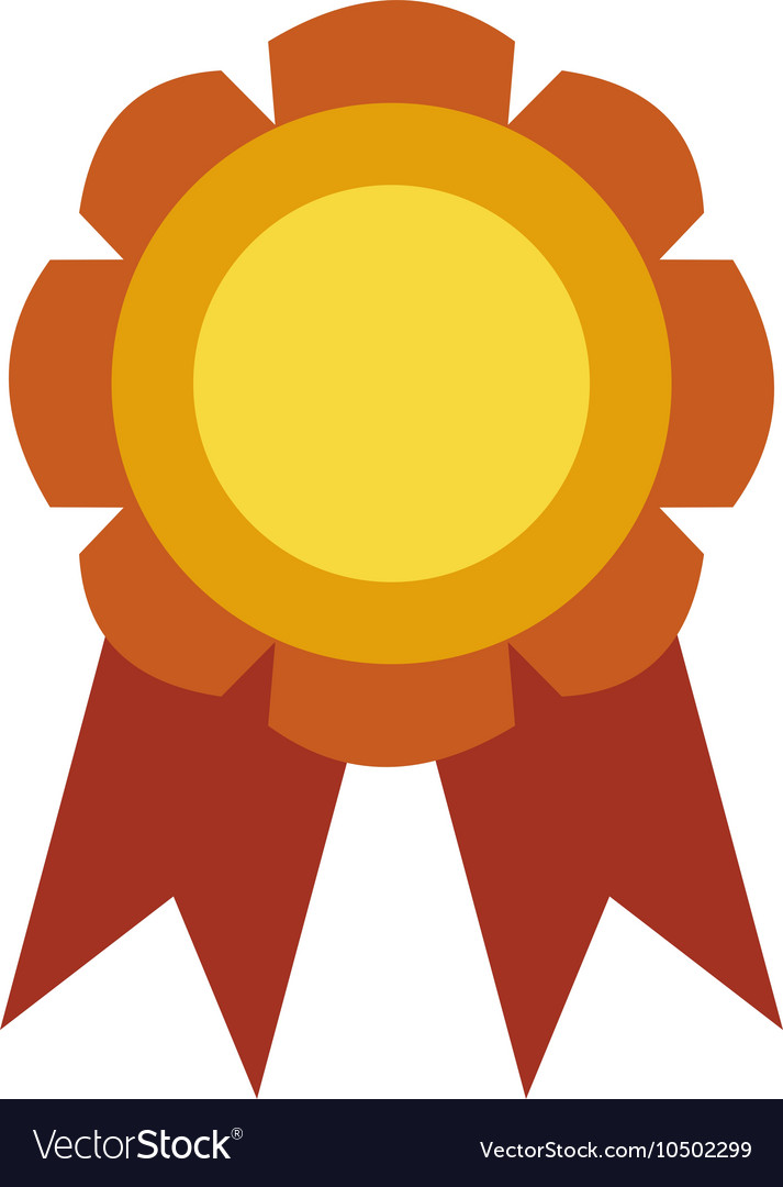 Medal stamp vector