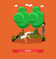 army concept in flat style vector image