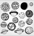 planets vector image vector image