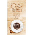 Cup coffee Light Wood vector image vector image