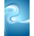 Bright smooth blue waves background vector image
