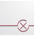 modern red check mark on black vector image