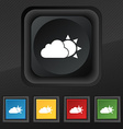 weather icon symbol Set of five colorful stylish vector image